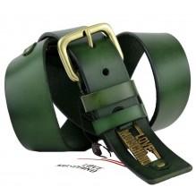 Широкий женский кожаный ремень Moschino темно-зеленый (арт. 104627)
