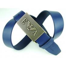 Мужской кожаный ремень Giorgio Armani синий (арт. 104206)