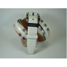 Мужской кожаный ремень Burberry белый (арт. 104172)
