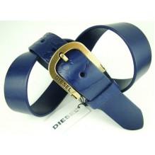 Мужской кожаный ремень Diesel синий (арт. 104355)