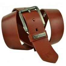 Мужской кожаный ремень Giorgio Armani коричневый (арт. 104221)