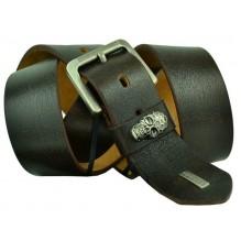 Мужской кожаный ремень Philipp Plein темно-коричневый (арт. 104394)