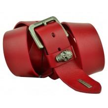 Мужской кожаный ремень Philipp Plein красный (арт. 104396)