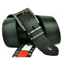 Мужской кожаный ремень Tommy Hilfiger черный (арт. 104270)