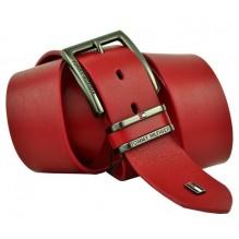 Мужской кожаный ремень Tommy Hilfiger красный (арт. 104274)