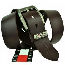Мужской кожаный ремень Tommy Hilfiger темно-коричневый (арт. 104277)