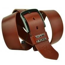 Мужской кожаный ремень Tommy Hilfiger коричневый (арт. 104283)