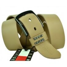 Мужской кожаный ремень Tommy Hilfiger кремовый (арт. 104285)