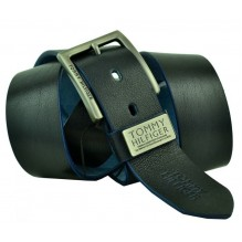 Мужской кожаный ремень Tommy Hilfiger черный (арт. 104286)