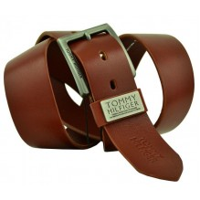 Мужской кожаный ремень Tommy Hilfiger коричневый (арт. 104287)