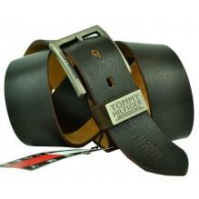Мужской кожаный ремень Tommy Hilfiger темно-коричневый (арт. 104289)
