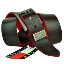 Мужской кожаный ремень Tommy Hilfiger темно-коричневый (арт. 104290)