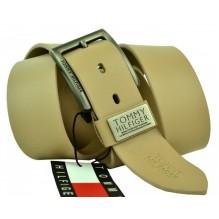 Мужской кожаный ремень Tommy Hilfiger кремовый (арт. 104291)
