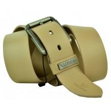 Мужской кожаный ремень Giorgio Armani кремовый (арт. 104222)
