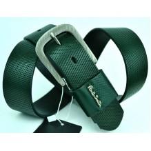 Мужской кожаный ремень Paul Smith темно-зеленый (арт. 104197)