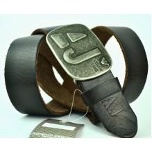 Мужской кожаный ремень Giorgio Armani черный (арт. 104207)