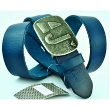 Мужской кожаный ремень Giorgio Armani синий (арт. 104208)