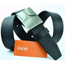 Мужской кожаный ремень HUGO BOSS черный (арт. 104306)