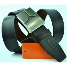 Мужской кожаный ремень HUGO BOSS черный (арт. 104307)