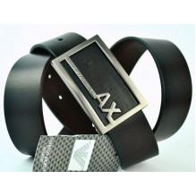 Мужской кожаный ремень Giorgio Armani черный (арт. 104211)