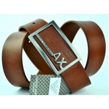 Мужской кожаный ремень Giorgio Armani коричневый (арт. 104212)