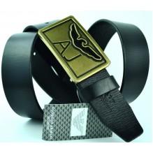 Мужской кожаный ремень Giorgio Armani черный (арт. 104213)