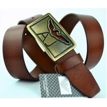 Мужской кожаный ремень Giorgio Armani коричневый (арт. 104216)