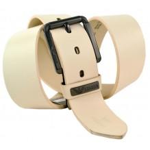 Мужской кожаный ремень Giorgio Armani белый (арт. 104223)