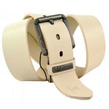 Мужской кожаный ремень Giorgio Armani белый (арт. 104224)