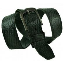 Мужской кожаный ремень Giorgio Armani черный (арт. 104225)
