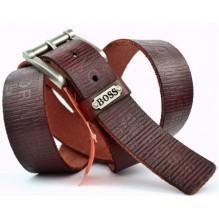 Мужской кожаный ремень HUGO BOSS коричневый (арт. 104309)