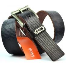 Мужской кожаный ремень HUGO BOSS черный (арт. 104310)
