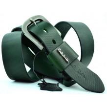 Мужской кожаный ремень Paul Smith темно-зеленый (арт. 104198)