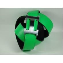 Мужской кожаный ремень Hermes зеленый (арт. 104160)
