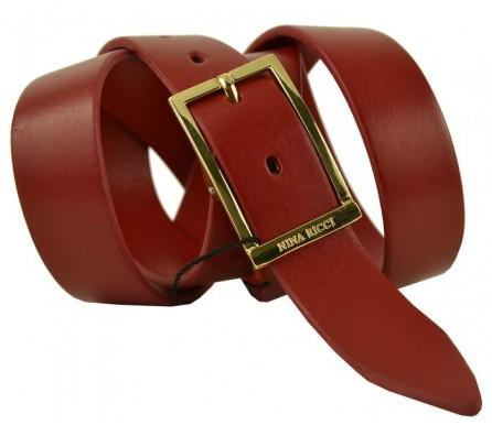 Женский кожаный ремень Nina Ricci красный (арт. 104627) Nina Ricci
