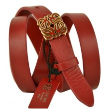 Женский кожаный ремень LOEWE красный (арт. 104627)