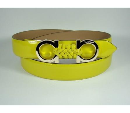 Женский кожаный ремень Salvatore Ferragamo желтый (арт. 104627) Salvatore Ferragamo