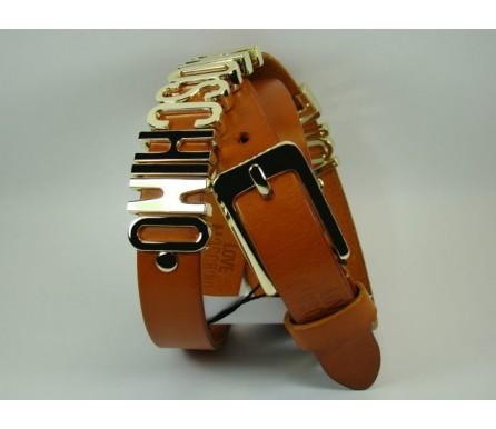Женский кожаный ремень Moschino коричневый (арт. 104627) Moschino