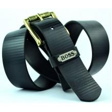 Мужской кожаный ремень HUGO BOSS черный (арт. 104311)