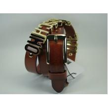 Женский кожаный ремень Moschino черный (арт. 104627)