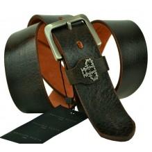 Мужской кожаный ремень Philipp Plein темно-коричневый (арт. 104402)