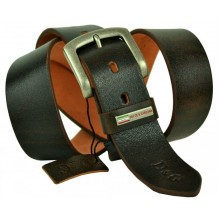 Широкий женский кожаный ремень Dolce & Gabbana темно-коричневый (арт. 104627)