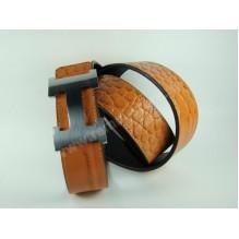 Мужской кожаный ремень Hermes коричневый (арт. 104163)