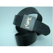 Мужской кожаный ремень Yves Saint Laurent черный (арт. 104204)
