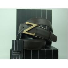 Мужской кожаный ремень Zegna черный (арт. 104563)