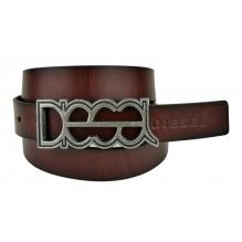 Мужской кожаный ремень Diesel темно-коричневый (арт. 104362)