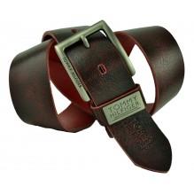 Мужской кожаный ремень Tommy Hilfiger темно-коричневый (арт. 104298)
