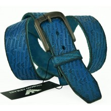 Мужской кожаный ремень Giorgio Armani темно-синий (арт. 104227)
