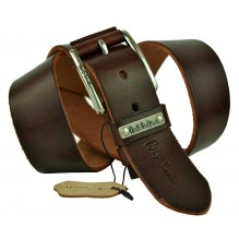 Мужской кожаный ремень Paul Smith темно-коричневый (арт. 104199)