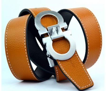 Женский кожаный ремень Salvatore Ferragamo коричневый (арт. 104627) Salvatore Ferragamo